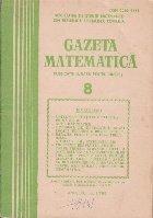 Gazeta matematica August 1986