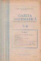 Gazeta matematica Iulie August 1992