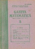 Gazeta matematica Mai 1986