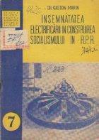 Insemnatatea electrificarii in construirea socialismului in R.P.R.