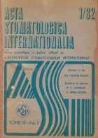 ACTA Stomatologica Internationalia 1/1982