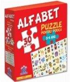 Alfabet - Puzzle pentru podea + Plansa alfabet