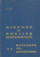 Algebra si analiza matematica - Culegere de probleme, Volumul al II-lea