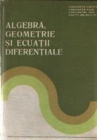 Algebra geometrie ecuatii diferentiale