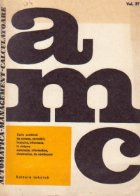 AMC 27 (Automatica. Management. Calculatoare) - Sinteze, cercetari aplicative. Instruire. Manifestari