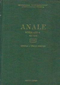 Anale, Seria a III-a, Volumul I (XI), 1969 - Biologie. Stiinte agricole