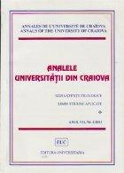 Analele Universitatii din Craiova - Seria Stiinte Filologice. Limbi straine aplicate, Anul VII, Nr. 2/2011