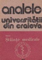 Analele Universitatii din Craiova - Seria Stiinte Medicale -1991