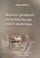 Analiza gestiunii portofoliului de valori mobilare