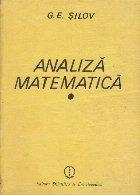 Analiza matematica. Curs special (G. E. Silov)