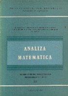Analiza matematica - Materiale pentru perfectionarea profesorilor de liceu, III
