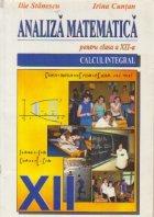 Analiza matematica pentru clasa a XII-a - Calcul integral