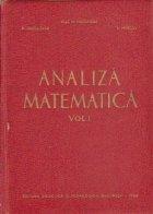 Analiza matematica Volumul