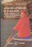 Analize literare stilistice pentru clasele