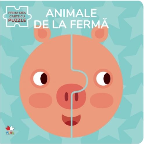 Animale de la fermă. Prima mea carte cu puzzle