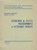 Anthologie textes philosophiques litteraires francais