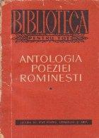 Antologia poeziei rominesti, Volumul I