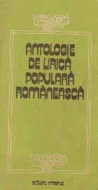 Antologie de lirica populara romaneasca
