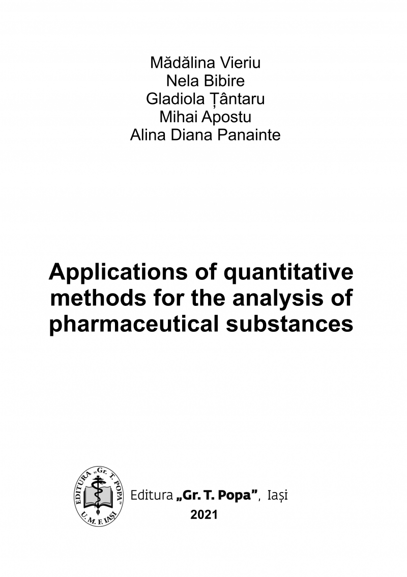 Applications of quantitative methods for the analysis of pharmaceutical substances