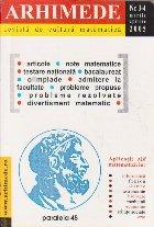 Arhimede Revista cultura matematica 4/2005