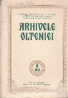 Arhivele Olteniei, Serie Noua Nr. 5/1986
