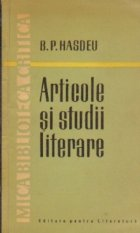 Articole studii literare