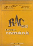Bacalaureat 2003 Literatura Romana