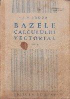 Bazele Calculului Vectorial, Volumul al II-lea
