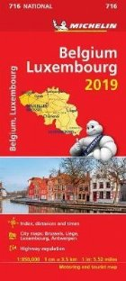 Belgium & Luxembourg 2019 - Michelin National Map 716