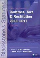 Blackstone's Statutes on Contract, Tort & Restitution 2016-2