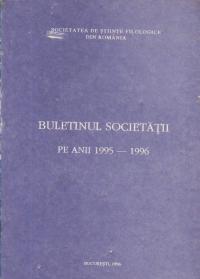 Buletinul Societatii pe anii 1995-1996