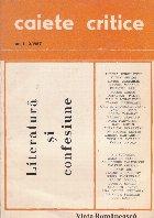 Caiete critice 2/1987 Literatura confesiune