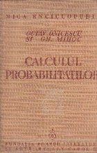 Calculul probabilitatilor (Onicescu Mihoc Editie