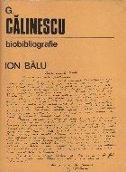 G. Calinescu 1899-1965 Biobibliografie