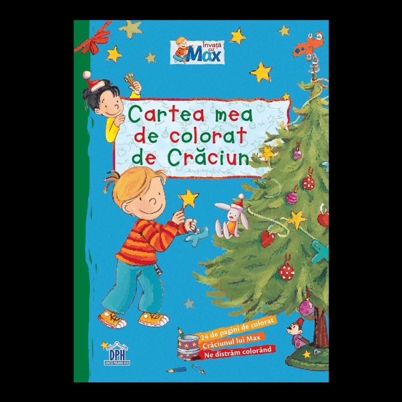Cartea mea de colorat de Craciun - Invata cu Max