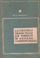 Categoriile gramaticale ale verbului in romana contemporana