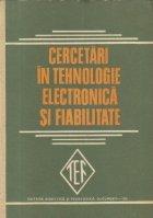 Cercetari in tehnologie electronica si fiabilitate