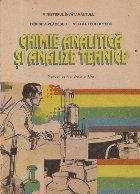 Chimie analitica si analize tehnice, Manual pentru clasa a XI-a