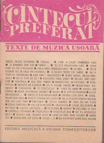 Cintecul preferat - Texte de muzica usoara