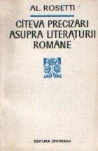 Citeva precizari asupra literaturii romane