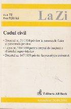 Codul civil. Actualizat 20.09.2004