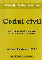 Codul civil. Actualizat septembrie 2012
