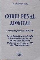 Codul penal adnotat cu practica judiciara 1969-2000