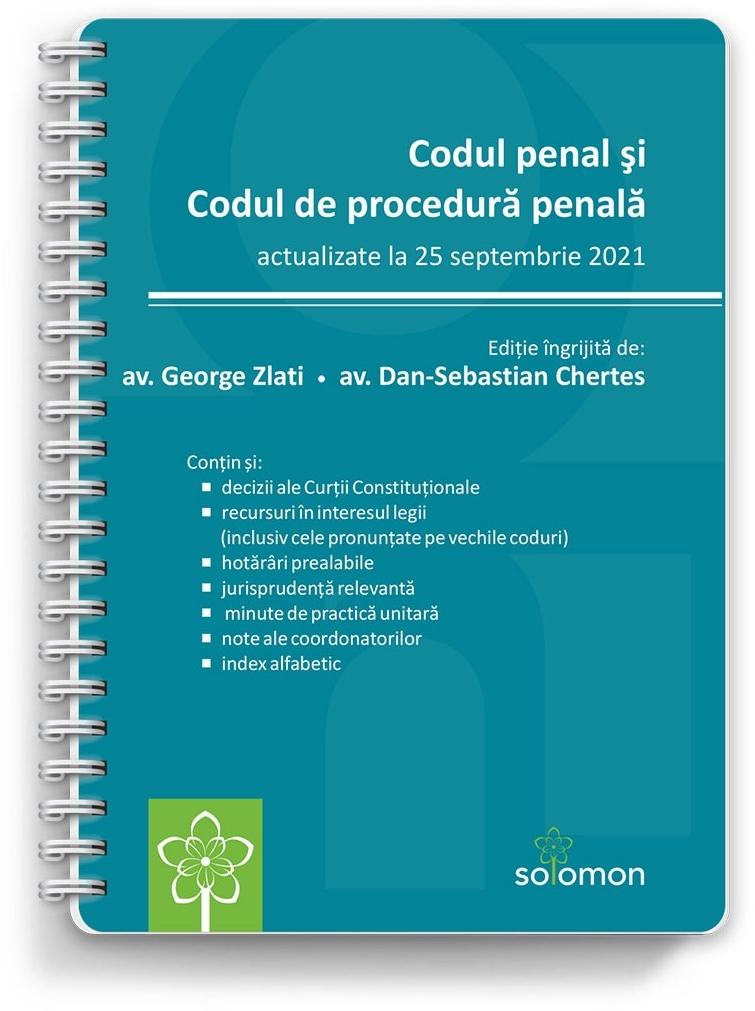 Codul penal şi Codul de procedură penală