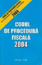Codul de procedura fiscala 2004