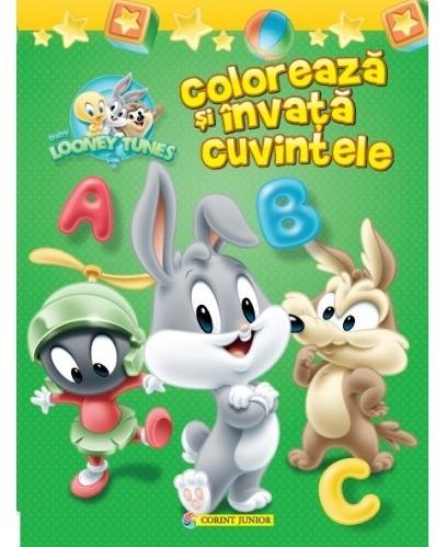 Colorează şi învaţă cuvintele. Baby Looney Tunes