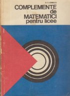 Complemente de matematici pentru licee
