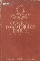 Congresul invatatorilor din R.P.R. (10-13 Aprilie 1952)