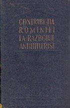 Contributia Rominiei la razboiul antihitlerist (23 august 1944 - 9 mai 1945)