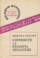 Contributii la filosofia Renasterii [Itinerar italian]